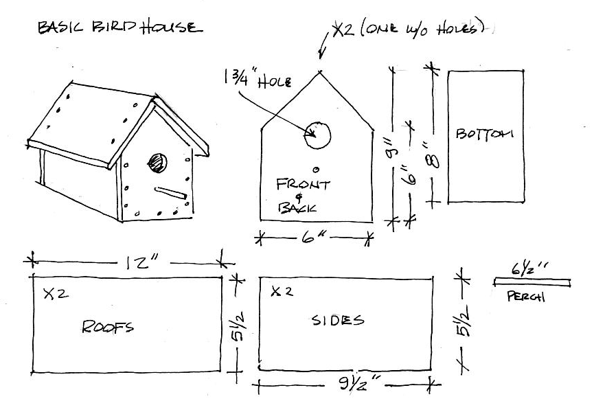 Wren bird house plans free bird house plans easy build for Simple diy birdhouse plans